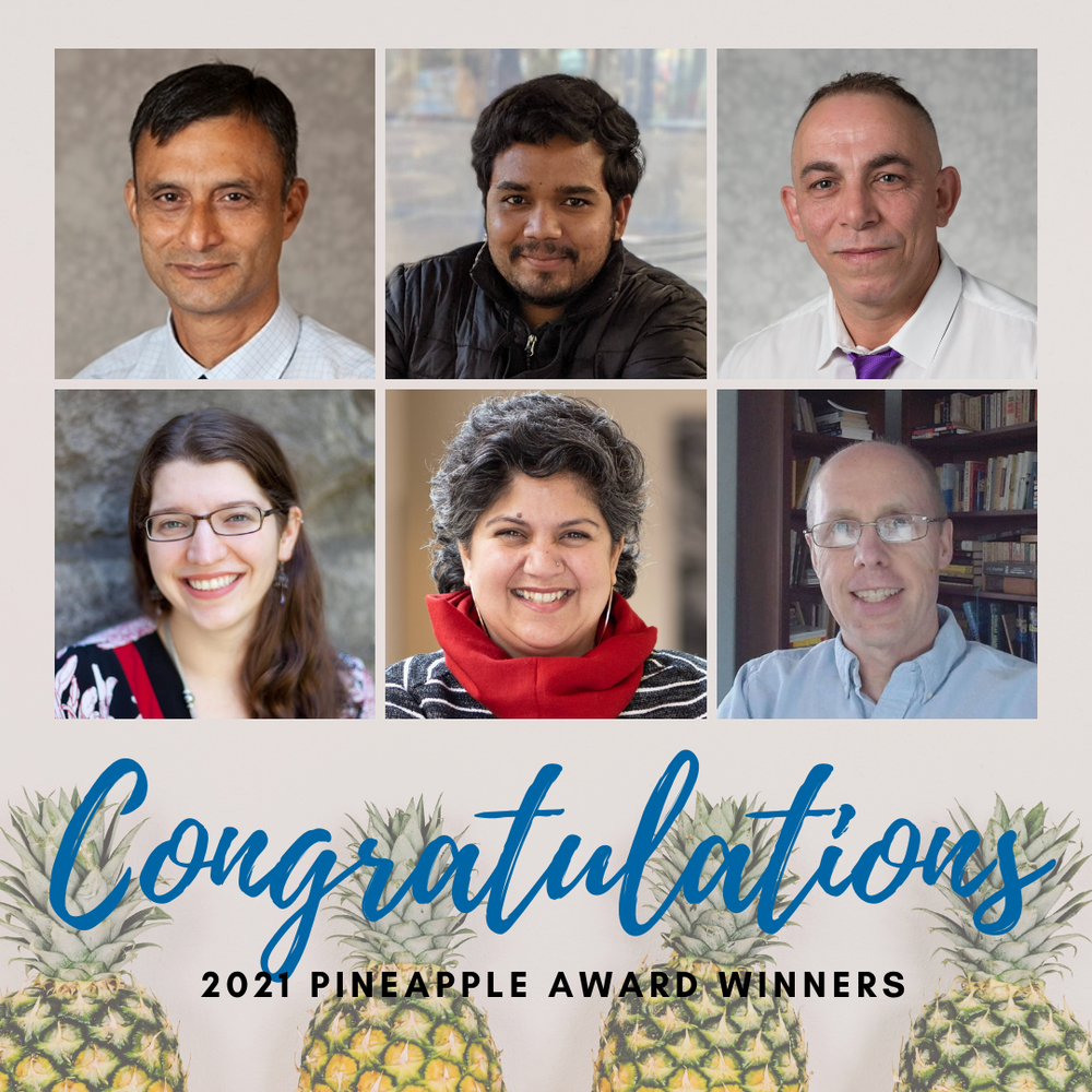 PCEC Faculty, Staff, and Student Honored with Pineapple Awards